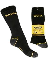 """6 Paar robuste Spezial Arbeitssocken """"WORK"""" mit Innenfrottee - extrem belastbar, hoher Tragekomfort - venenfreundlicher Komfortbund"""