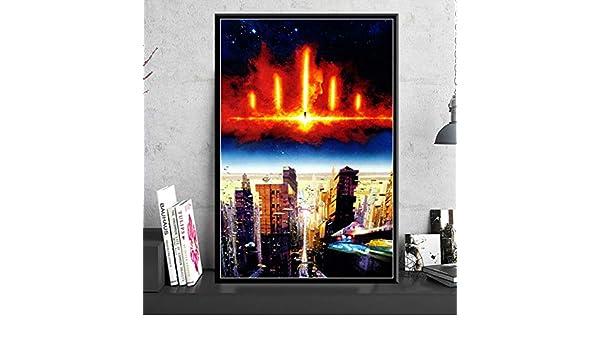 Klassische Sci-Fi Movie Poster Und Drucke Kunst Gem/älde Leinwand Drucke Wandbilder F/ür Wohnzimmer Wohnkultur 42X60 cm Ohne Rahmen