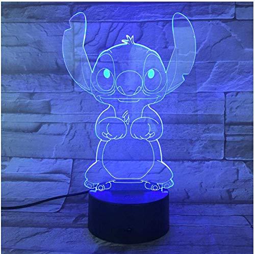 3D-Illusion Nachtlicht Weihnachten Dibujo lámpara de escritorio mesita de Noche 3D ilusión Sensor táctil RBG Lámpara decorativa niño niños bebé luz de Noche Noche LED Geschenk