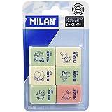 Milan BMM10049 - Pack de 6 gomas de borrar