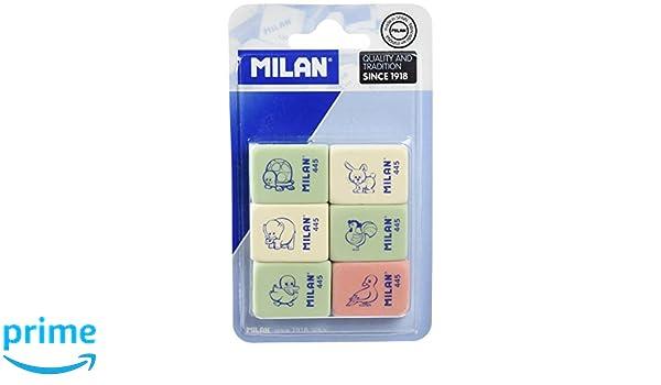 Milan BMM10049 Lot de 6/gommes /à effacer