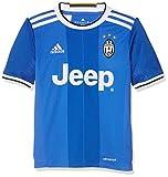 adidas Juve A JSY Y Camiseta 2ª Equipación Juventus FC 2015/2016, Niños, Azul/Blanco, 11-12 años