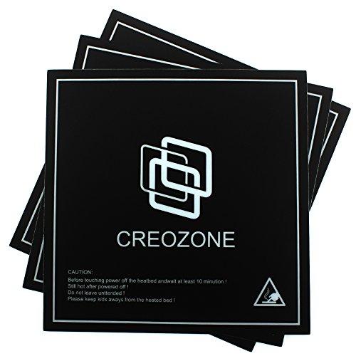 Creozone imprimante 3d Lit construire Surface Lit Autocollant plaque, imprimante 3d plaque Housse/Autocollant/bande chauffante Drap de lit; 21,4x 21,4cm carré (lot de 3)