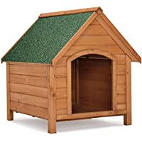 Sam`s Pet Hundehütte/Hundehaus Rocky mit aufklappbarem Bitumendach und erhöhtem Boden 71 × 88 × 83cm