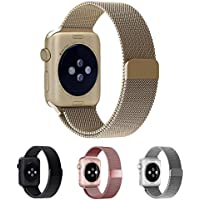 Smartwatch Armband,42mm Gold Milanaise Strap Armband Replacement Wrist Band für Apple Watch 42mm Serie1,2,3