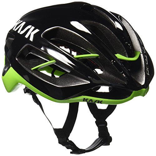 Kask Protone, Casco de Ciclismo Multiuso, Negro/Verde, M