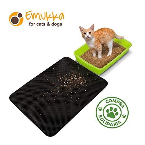 Sandmatte für Katzenstreuer, waschbarer und Rutschfester Sand, Matte für Haustiere, aus ungiftigem Eva und Eco-Friendly 60 x 46 cm