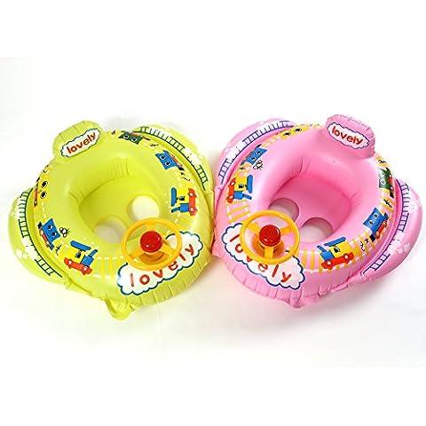 Inflable para Piscina Bebé Niño 15-30kg asiento del flotador del barco de Rueda para Natación #035 (los colores son enviados a selección