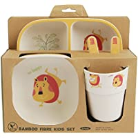 Bobo Boo Bambus Kinder Teller Set Von 4 Eco Friendly Kleinkinder