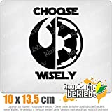 KIWISTAR choose wisely 13,5 x 10 cm IN 15 FARBEN - Neon + Chrom! Sticker Aufkleber