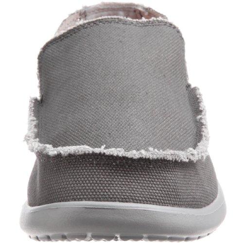 Crocs Santa Cruz Shoe M, Scarpe da barca, Uomo Grey (Light Grey/Charcoal)