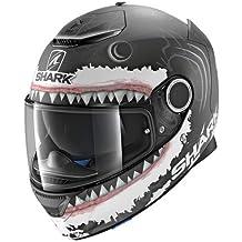 Shark Moto Casco Hark – Spartan Lorenzo WHT Mat, Negro/Blanco, ...