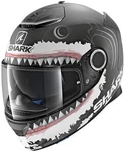 Shark Motorradhelm Hark Spartan Lorenzo WHT Mat Gr/ö/ße S Schwarz//Wei/ß