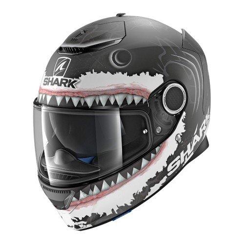 Shark Casco Moto Hark Spartan Lorenzo WHT Mat, Nero/Bianco, S