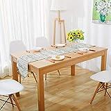 LGZOOT Holzmaserung Tischläufer Tischdecken (mit 4 Tischsets) Multi-Size-Tischdecken Für Restaurant-Küche Hochzeitsfeiern Bankett-Events,L