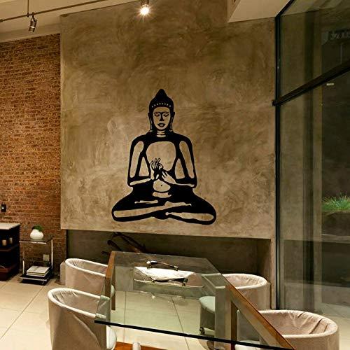 WWYJN Buddha Wall Decal Cute Vinyl Sticker Home Arts Wall Decals Buddhism Statue,Buddhist Home Decor Wall Art Black 75x60 cm (Minecraft Halloween Statue)