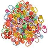 Miryo-100pcs marcadores de la puntada de plástico para hacer punto del ganchillo de bloqueo, cierre de ganchillo, herramientas para hacer punto Multicolores