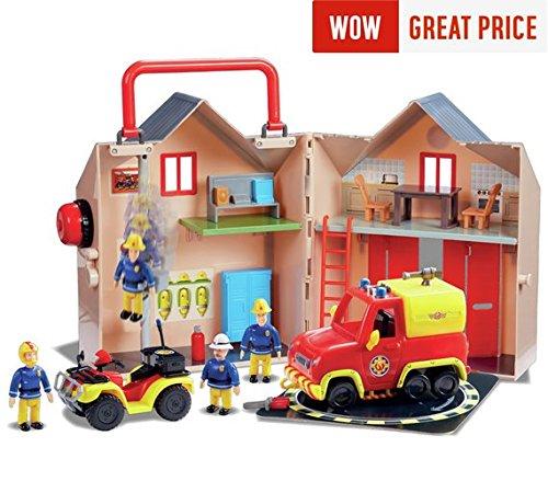 feuerwehrmann sam neue feuerwehrstation Erschaffe die Welt von Feuerwehrmann Sam mit dem 2017/18-Feuerwehrhausund Pontypandy-Rettungsset.
