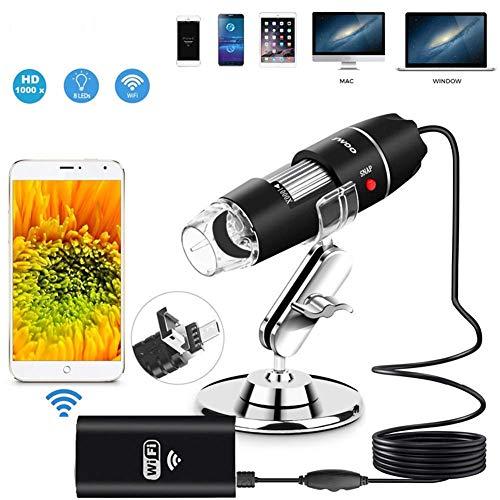 Borescope Digital Mikroskop WiFi USB, HD Kinder Kamera 1000 X Vergrößerung Magnification Mit 8-LEDs Für Android, iPhone, IOS Windows Fauay (Mikroskop Für Kinder Beste)