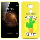 Funda de Silicona Diseño Premium para Huawei G8 / GX8 Emoticonos Cactus