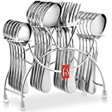 #9: Stainless Steel Cutlery Stand Spoon and Fork Rack Holder (Only Stand 1pc)