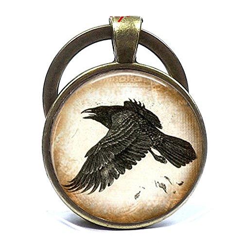 Raven Schlüsselanhänger Raven Bird Schlüsselanhänger Halloween Hauseigene Schlossküche verwöhnt Raven Schlüsselanhänger Raven Bird Halloween Schlüsselanhänger (Halloween Geldbörsen)