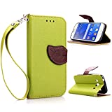 CaseHome Compatible for Samsung Galaxy Ace 4 Custodia in Pelle PU Progettare Stand Caratteristica Protettivo Pelle Portafoglio Astuccio Conchiglia Case for Samsung Galaxy Ace 4-Verde