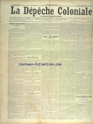 DEPECHE COLONIALE (LA) [No 1359] du 15/02/1901