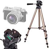 Trépied ajustable solide pour Nikon D5600, Panasonic GF9 / Lumix DC-FZ82, Polaroid Pop appareils photo - qualité professionnelle par DURAGADGET