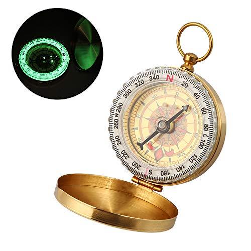 erdichter Messing Kompass,Portable Taschenuhr Kompass,Taschenkompass,Marschkompass,Sprungdeckel Compass Für Camping, Wandern und andere Outdoor-Aktivitäten. ()