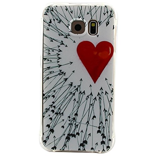 Uming® Crashsichere Crashproof Serie Bunte Muster Druck Zeichnung weichen TPU Fall Abdeckung Hülle ( Snow Girl - für IPhone 5S 5 5G SE IPhone5S IPhoneSE ) Airbag Blase Tropfen Beweis Sturzerkennungs S Arrows around Heart