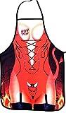 Erotische Kochschürze für Frauen Red Devil sexy Schürze mit aufgezeichneten Strapse