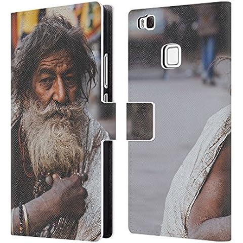 Ufficiale Luke Gram India I Ritratto Cover a portafoglio in pelle per Huawei P9 lite / G9 Lite
