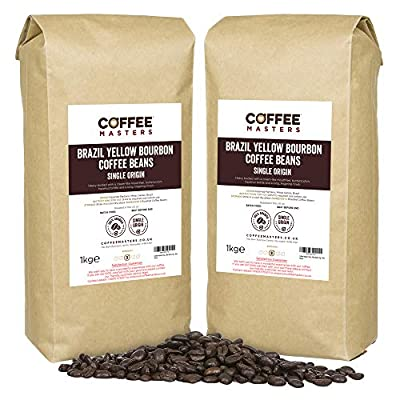 Coffee Masters Brazil Yellow Bourbon Coffee Beans 4x1kg by Coffee Masters