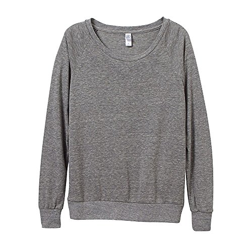 Alternative Apparel Sweatshirt (Alternative Apparel Damen eco-jersey Slouchy Pullover XL Eco Grey)