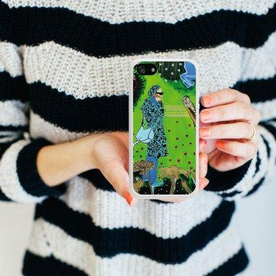 Apple iPhone 4 Housse Étui Silicone Coque Protection Femme Femme Motif Housse en silicone blanc