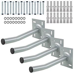FIXKIT 4x Autoreifen Wandhalter Reifenhalter Halterung inkl. Schrauben & Dübel, Felgen Halterung belastbar bis 50kg