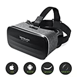 Lightweight VR Headset, HAMSWAN Virtual Reality Headsets, 3D VR Headset for 3D Movies and Games Compatible with All iOS & Android Smartphones Within 4.0-6.0 Inch