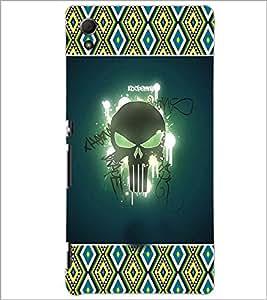 PrintDhaba Skull D-3622 Back Case Cover for SONY XPERIA Z4 (Multi-Coloured)