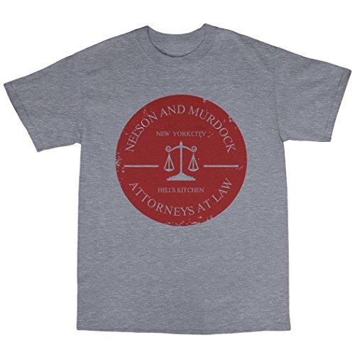 Nelson & Murdock Attorneys At Law T-Shirt 100% Baumwolle Grau