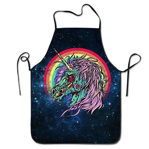 Icndpshorts Funny Apron Chef Kitchen Cooking Apron Bib Zombie Unicorn Restaurant Comfortable Zombie Lab