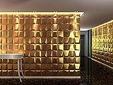 Panel Decorativo 3D MOSAICS para paredes interiores, 100% ecológico fabricado con bambú, 6 PANELES...