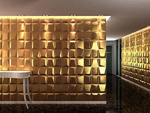 3D Mosaics Decorative panel for Interior Walls, 100% Ecologically Friendly, Made with Bamboo, 6Panels, 62.5x 80cm = 3m2