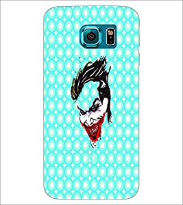PrintDhaba Joker D-4889 Back Case Cover for SAMSUNG GALAXY S6 (Multi-Coloured)
