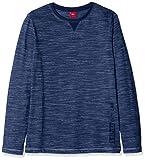 s.Oliver Junior Jungen Langarmshirt 62.811.31.8397, Blau (Blue Stripes 58s4), 152 (Herstellergröße: M/REG)