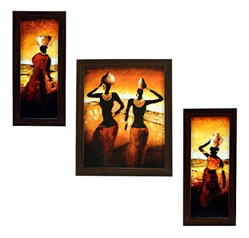 3 piece set of framed wall hanging art 3 PIECE SET OF FRAMED WALL HANGING ART 51d6 drn 2BnL