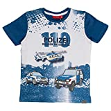 SALT AND PEPPER Jungen T-Shirt Police Photoprint, Blau (French Blue 452), 128 (Herstellergröße: 128/134)