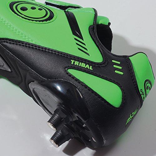 Optimum Tribal Boot-Velcro 6 Stud, Chaussures de Football Gar&CcedilOns Vert - Green (Fluro Green/Black)