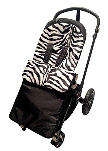 Animal Print Gepolsterte Fußsack/COSY TOES kompatibel mit UPPAbaby Vista/CRUZ/G-Luxe Zebra -