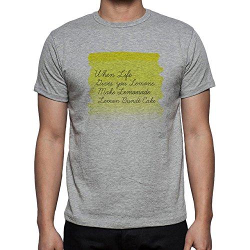 When Life Gives You Lemons Bake Cake Herren T-Shirt Grau
